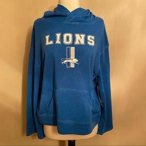 NWT Detroit Lions NFL Teens Hoodie Blue White